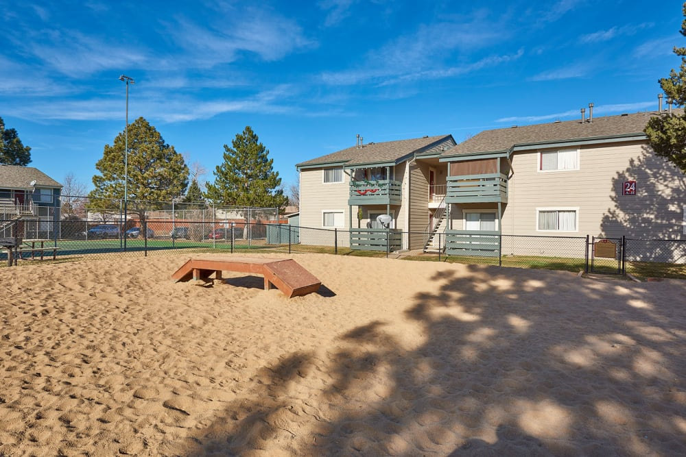 Onsite dog park at Hampden Heights Apartments in Denver, Colorado
