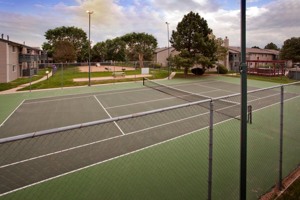 Tennis ball court at Hampden Heights Apartments in Denver, Colorado