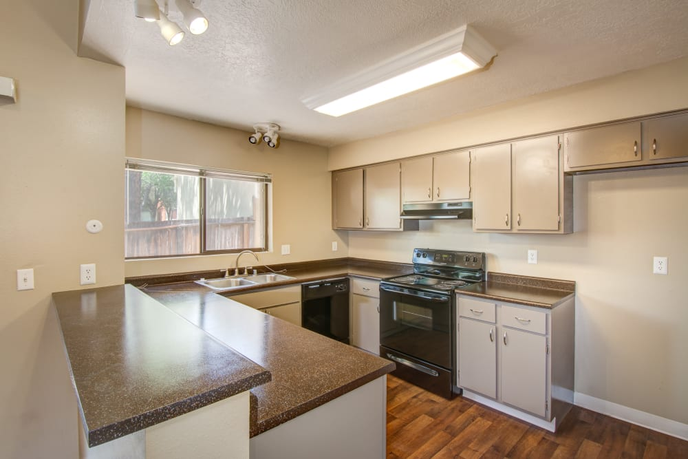 Kitchen with plenty of counter top space at Mesa Del Oso in Albuquerque, New Mexico