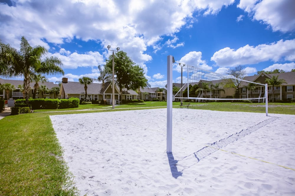 Onsite sand volleyball court at Signal Pointe Apartment Homes in Winter Park, Florida