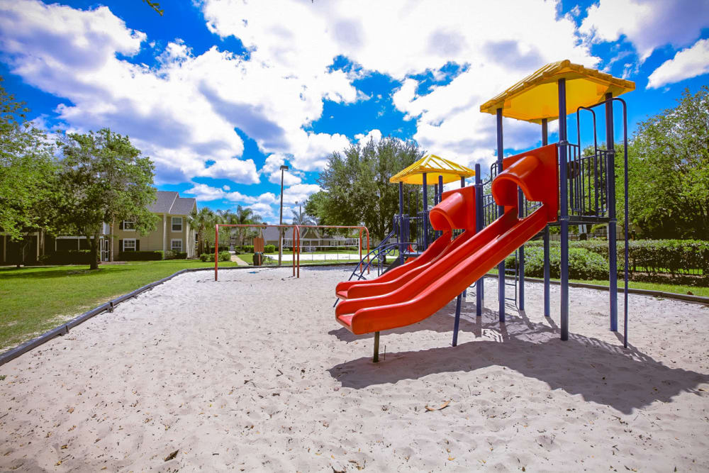 Onsite children's playground at Signal Pointe Apartment Homes in Winter Park, Florida