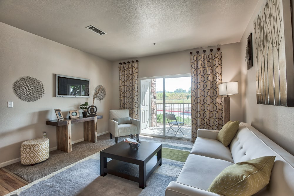 Living Room at Platte View Landing in Brighton, Colorado