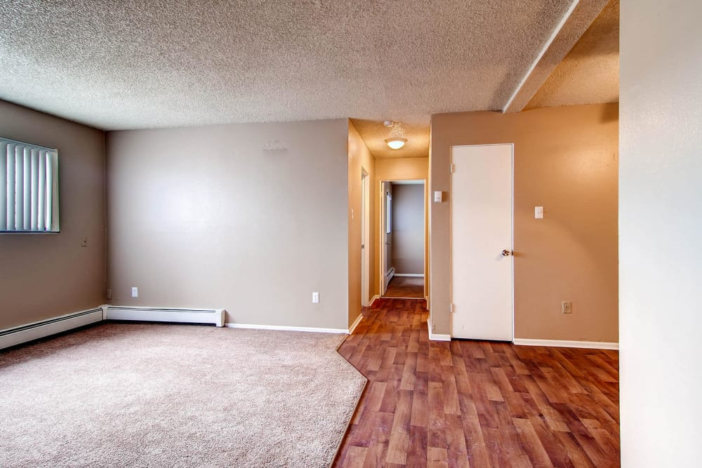 wood-style plank flooring at Arvada Green Apartment Homes in Arvada, Colorado