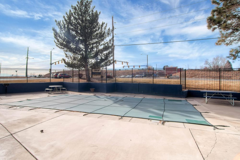 Resident swimming pool at Arvada Green Apartment Homes in Arvada, Colorado