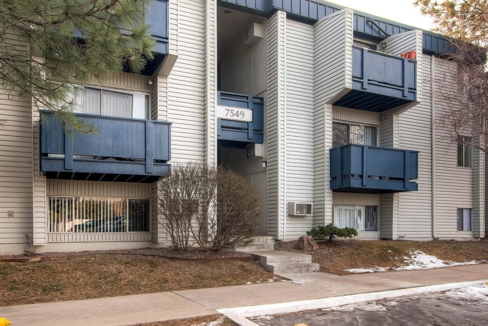 Private patio or balcony in select apartment homes at Arvada Green Apartment Homes in Arvada, Colorado