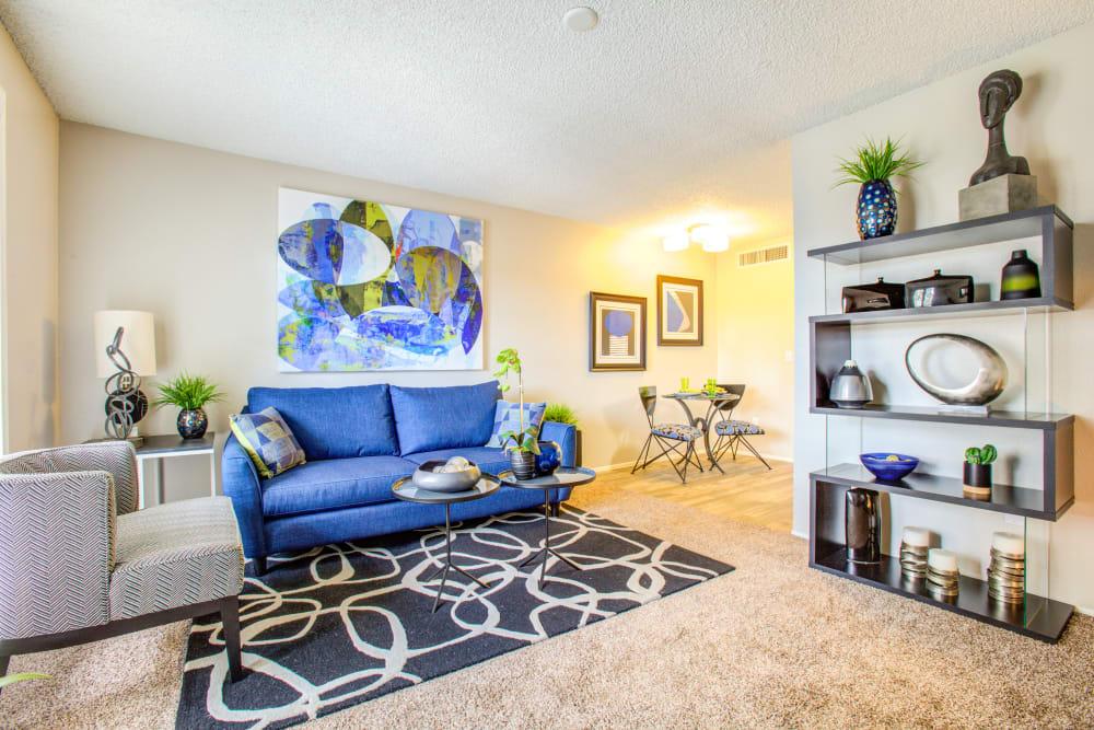 Living Room at Verde Apartments in Tucson, Arizona