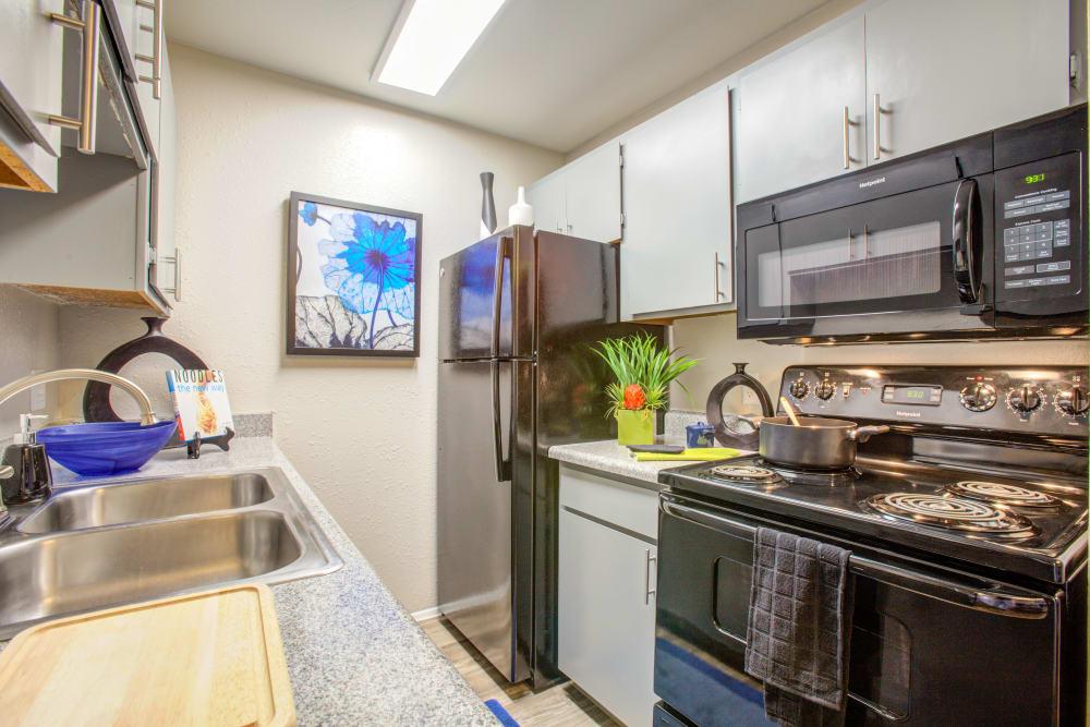 Kitchen at Verde Apartments in Tucson, Arizona