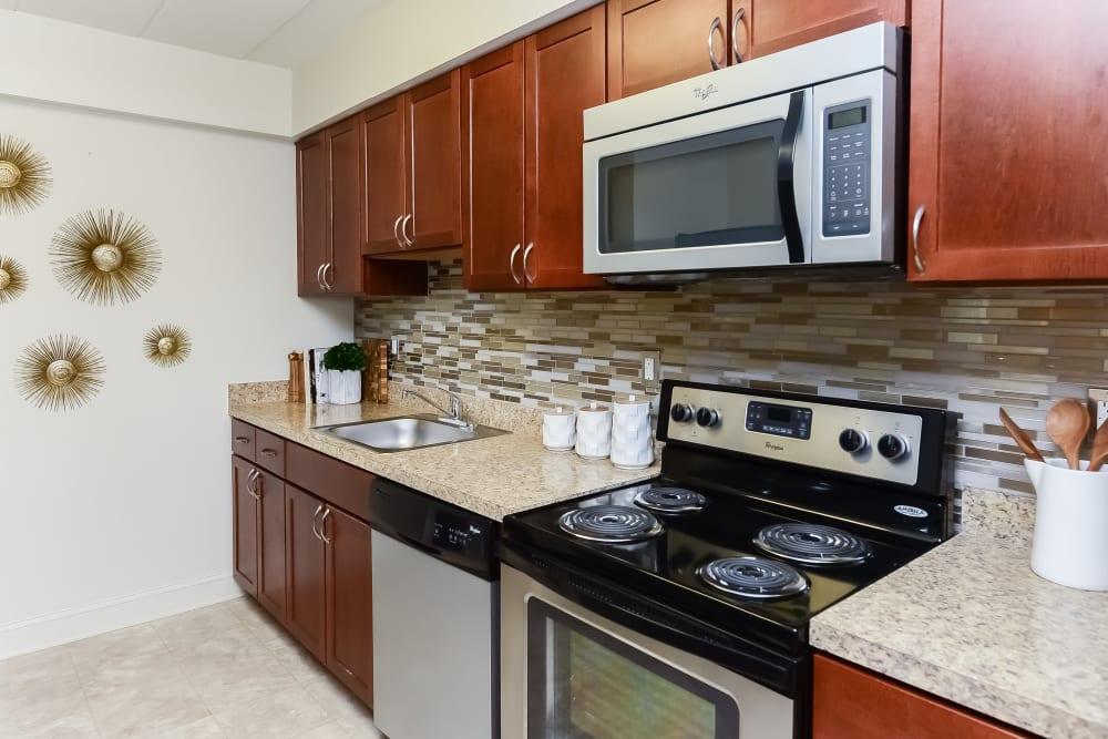 Kitchen at Apartments in Devon, Pennsylvania