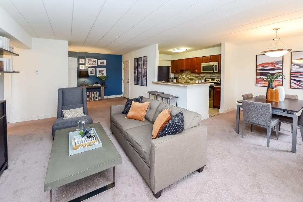 Living Room at Apartments in Devon, Pennsylvania