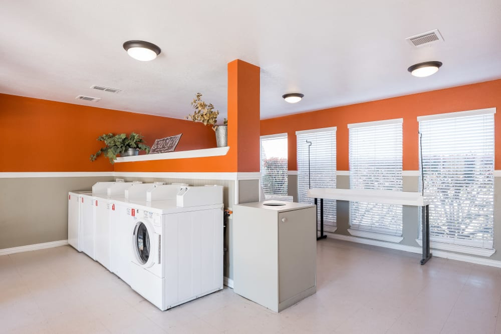 Resident laundry-mat at The Fairway Apartments in Plano, Texas