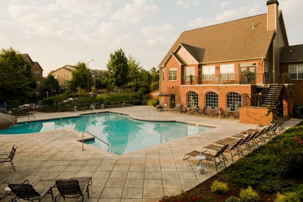 Resident swimming pool at Holland Park in Lawrenceville, Georgia