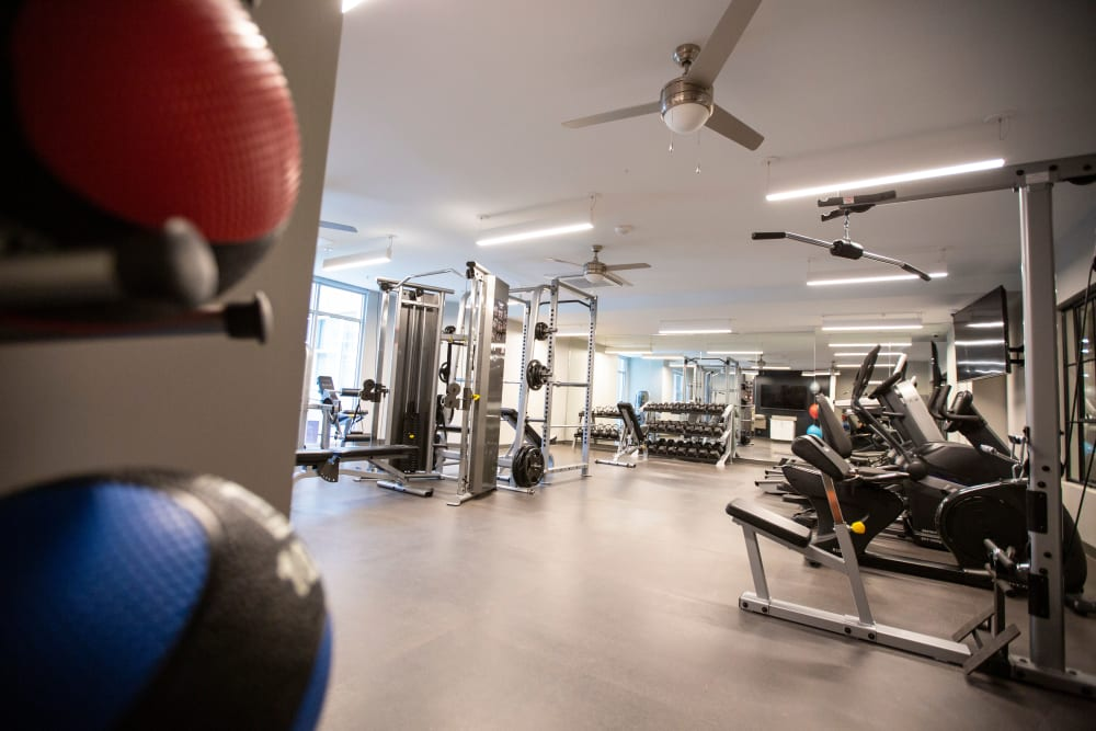 Fitness center at The Boulevard in Detroit, Michigan