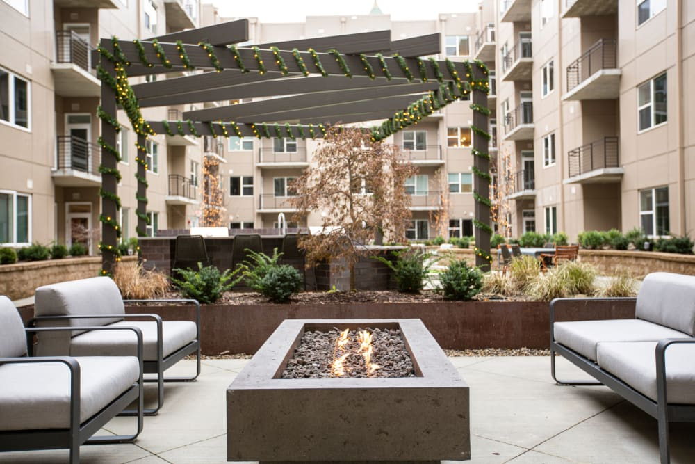 Courtyard at The Boulevard in Detroit, Michigan