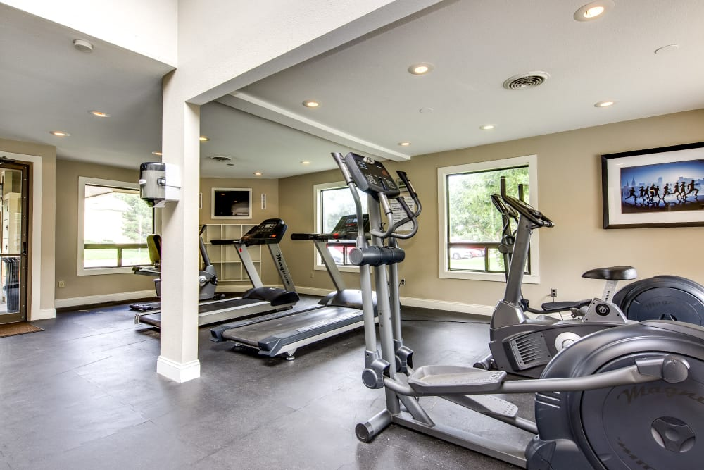 Well-equipped fitness center at Santana Ridge in Denver, Colorado