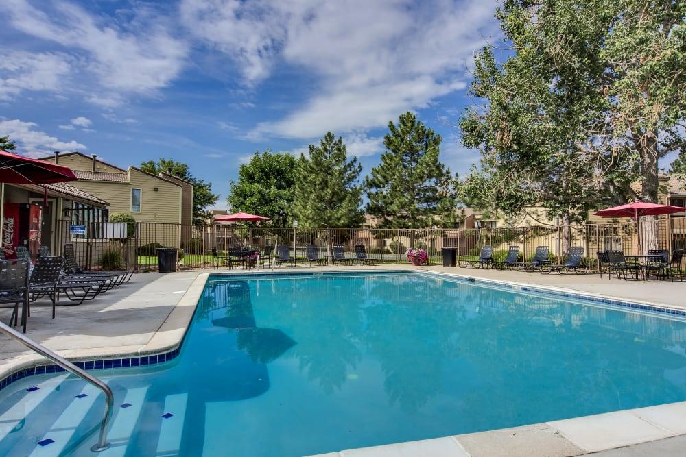 Resort-style swimming pool at Santana Ridge in Denver, Colorado
