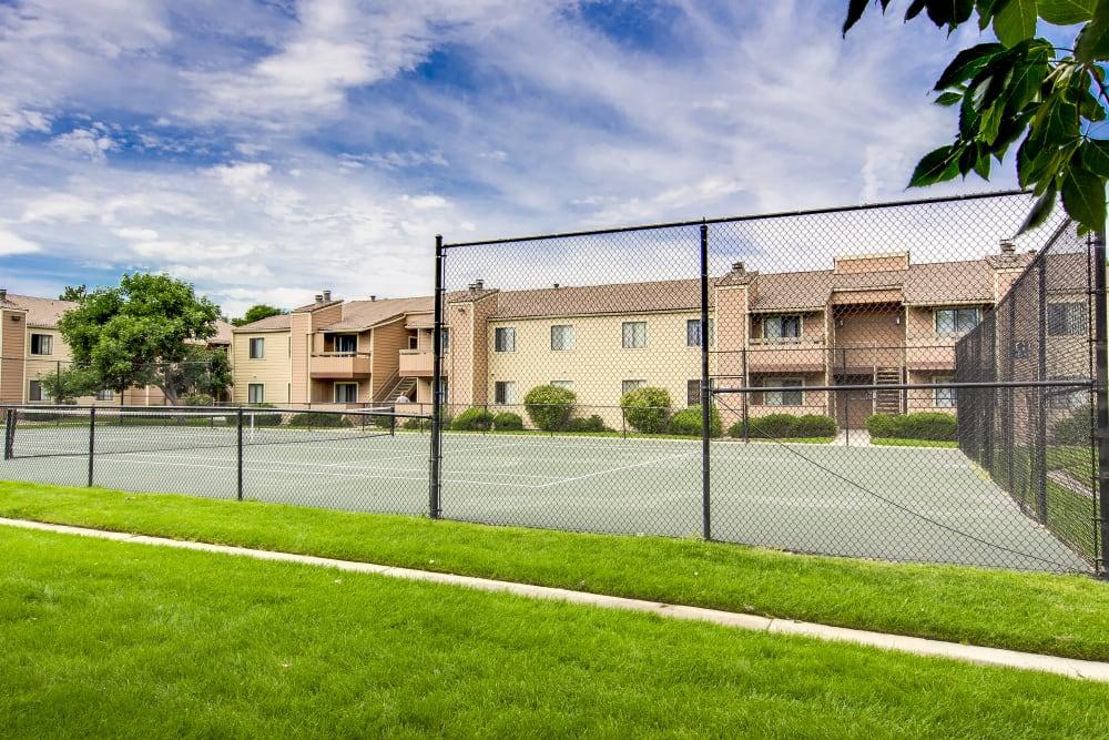 Tennis courts at Santana Ridge in Denver, Colorado