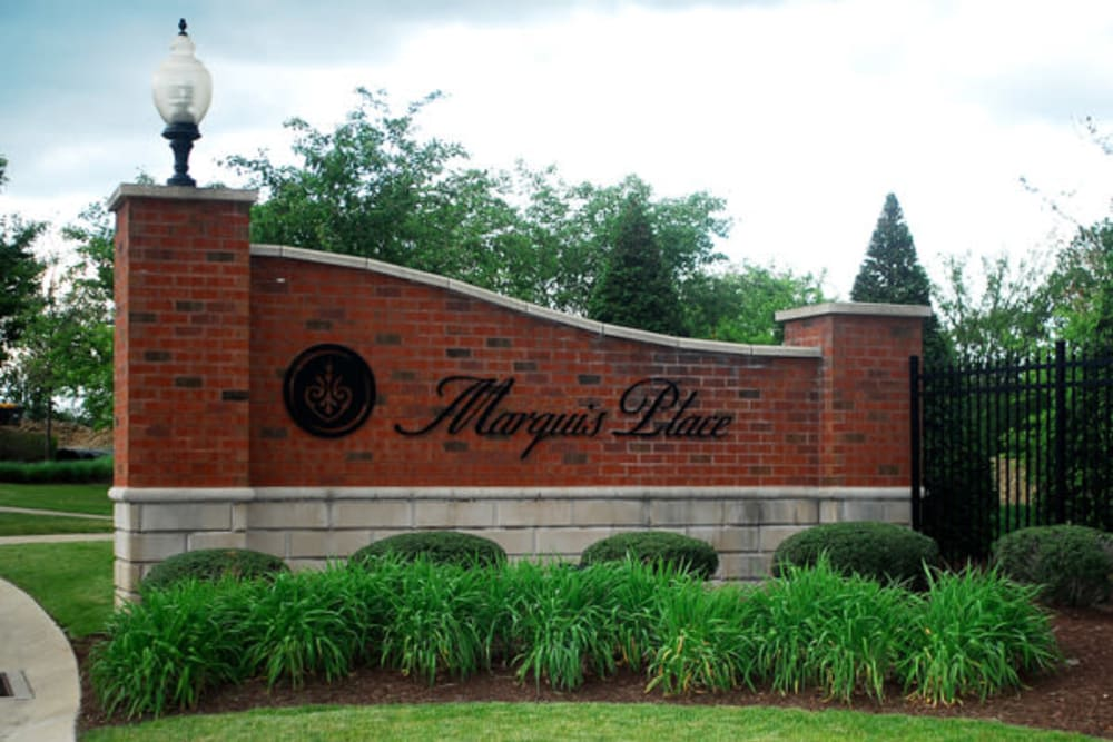 Sign to Marquis Place in Murrysville, Pennsylvania