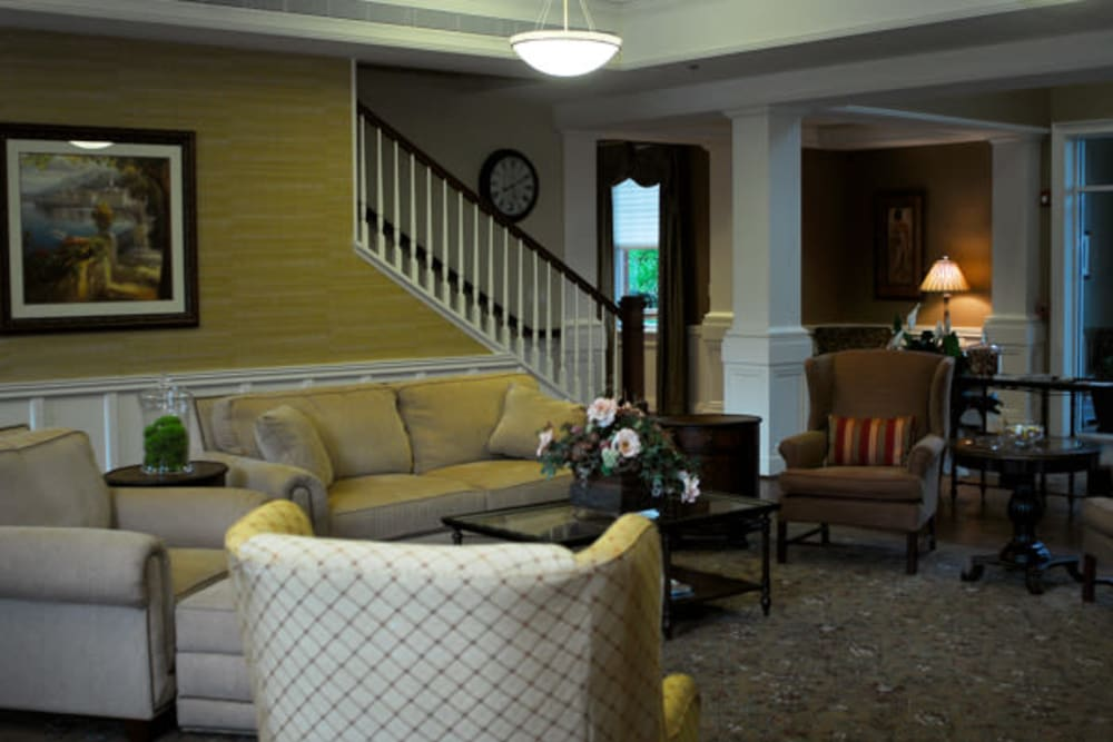 Spacious living room at Marquis Place in Murrysville, Pennsylvania