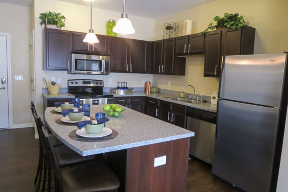 Fully equipped kitchen at Marquis Place in Murrysville, Pennsylvania