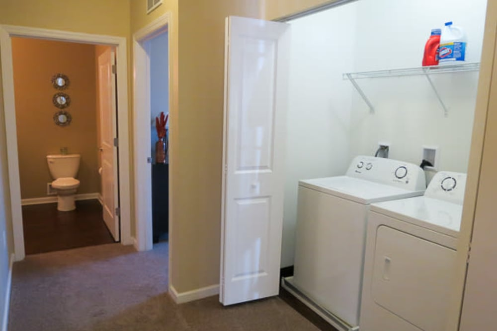 In-home washer and dryer at Marquis Place in Murrysville, Pennsylvania