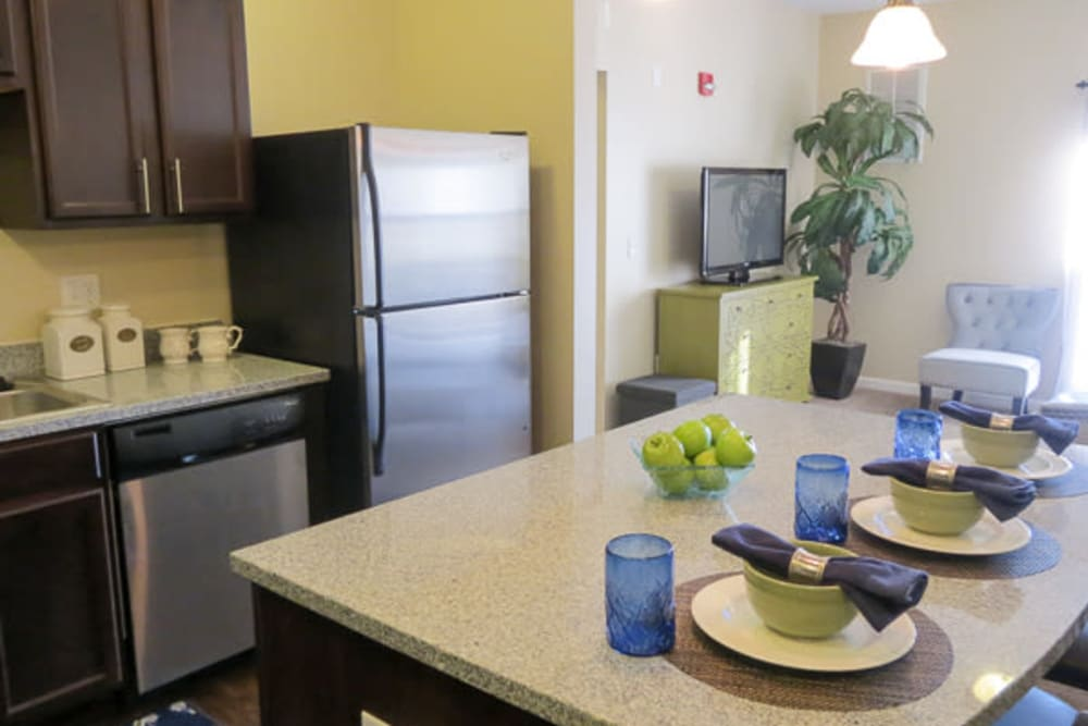 Bright kitchen at Marquis Place in Murrysville, Pennsylvania
