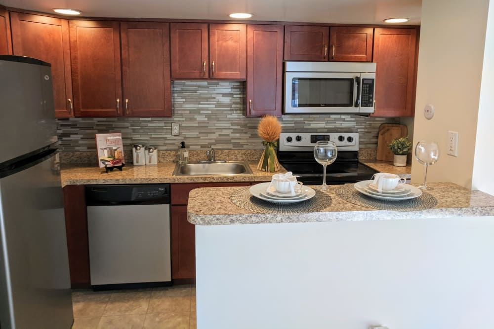 Kitchen at Apartments in West Chester, Pennsylvania