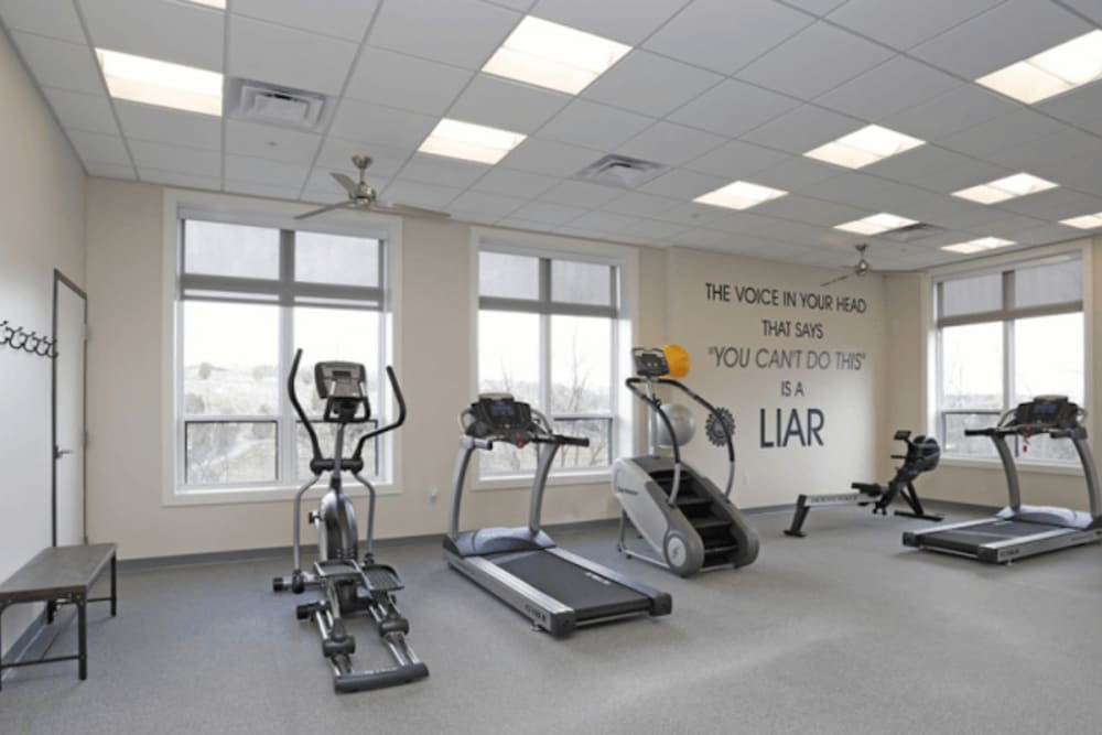 Fitness center at Park West 205 Apartment Homes in Pittsburgh, Pennsylvania