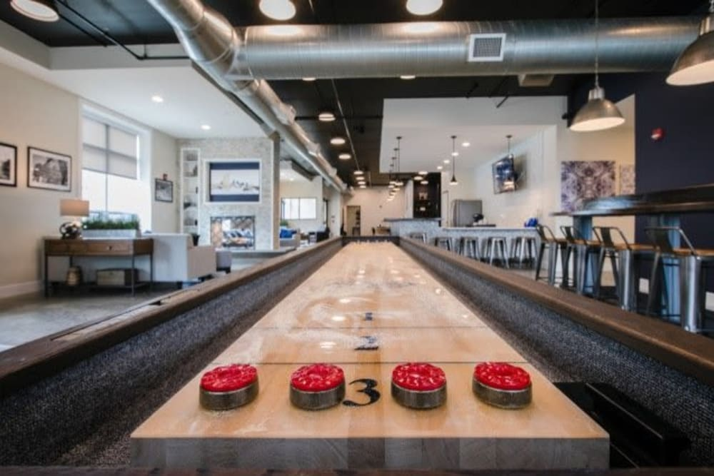 Shuffleboard table at Park West 205 Apartment Homes in Pittsburgh, Pennsylvania
