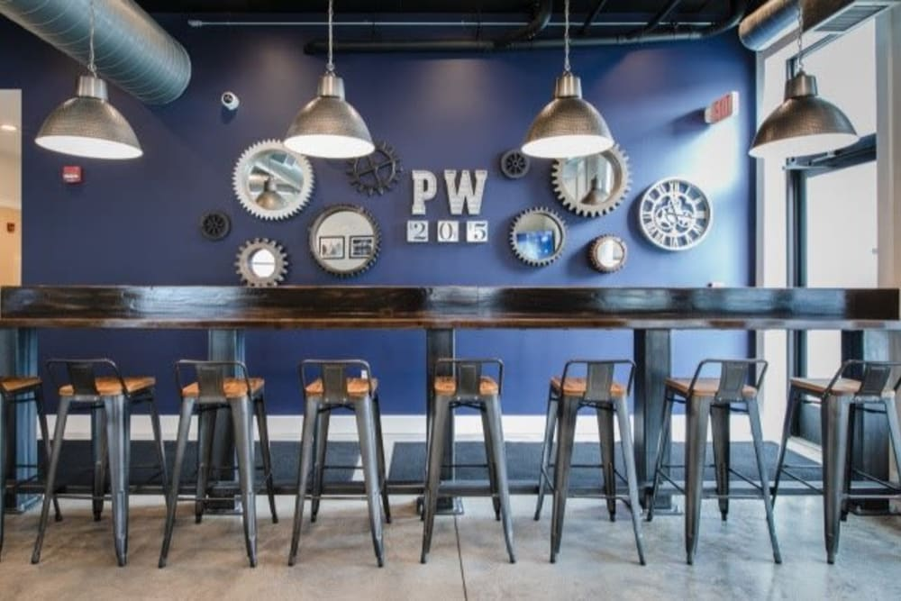 Stylish clubhouse at Park West 205 Apartment Homes in Pittsburgh, Pennsylvania