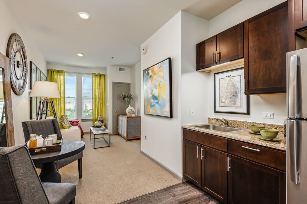 Spacious resident room at Anthology of Clayton View in Saint Louis, Missouri