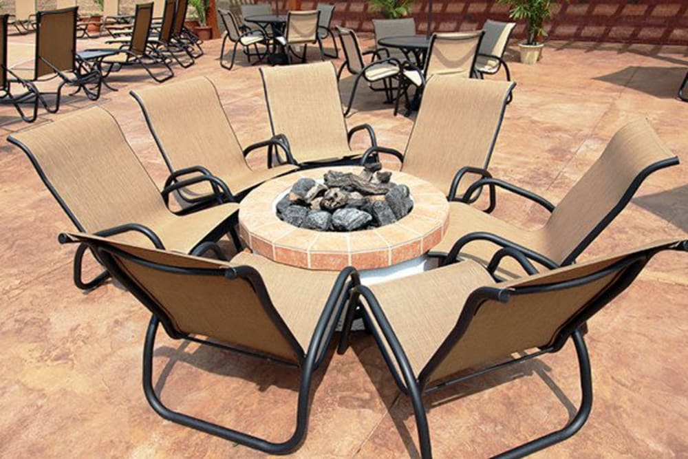 Outdoor firepit at Torrente Apartment Homes in Upper St Clair, Pennsylvania