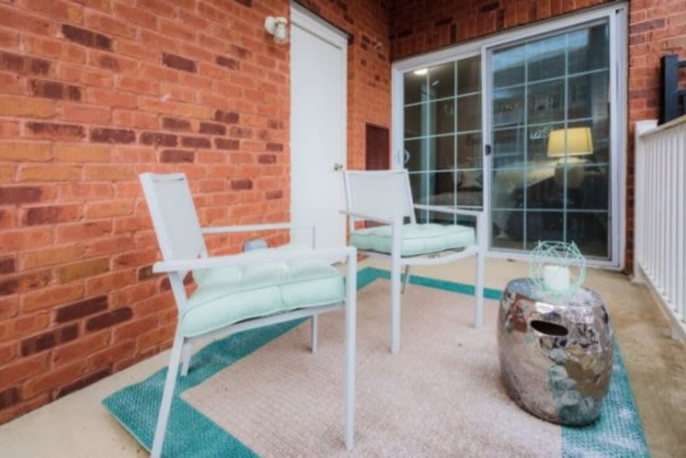 Private balcony at Torrente Apartment Homes in Upper St Clair, Pennsylvania