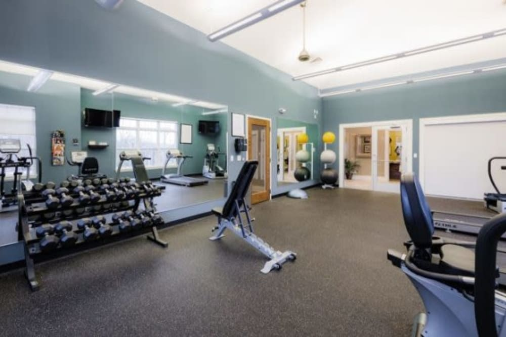 Fitness center at Torrente Apartment Homes in Upper St Clair, Pennsylvania