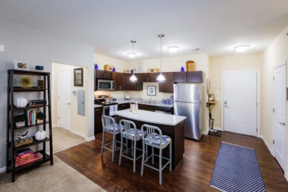 Bright, modern kitchen at Torrente Apartment Homes in Upper St Clair, Pennsylvania