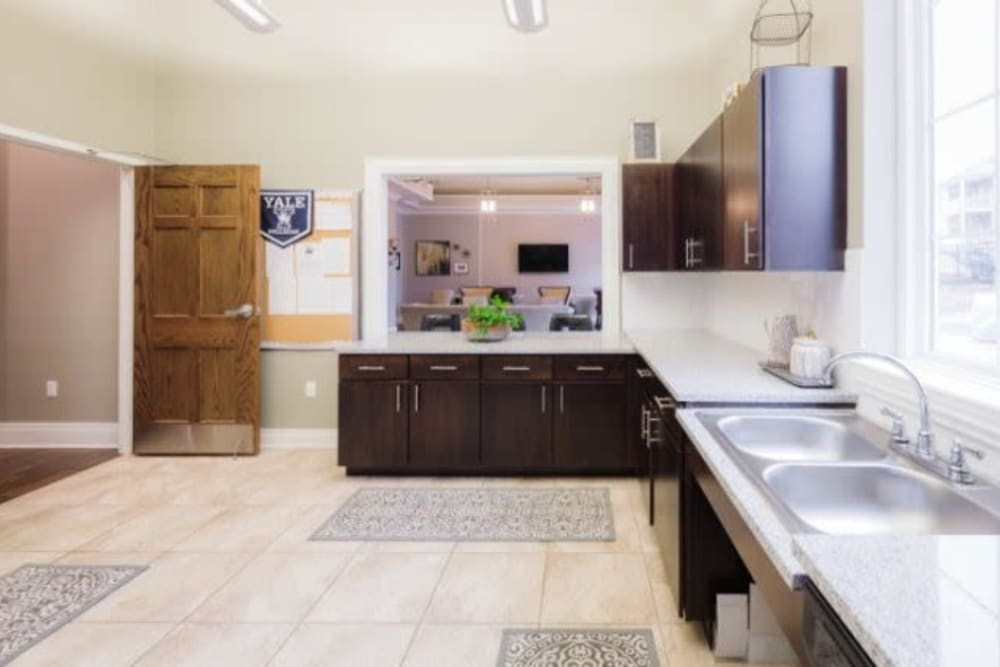 Bright kitchen at Torrente Apartment Homes in Upper St Clair, Pennsylvania
