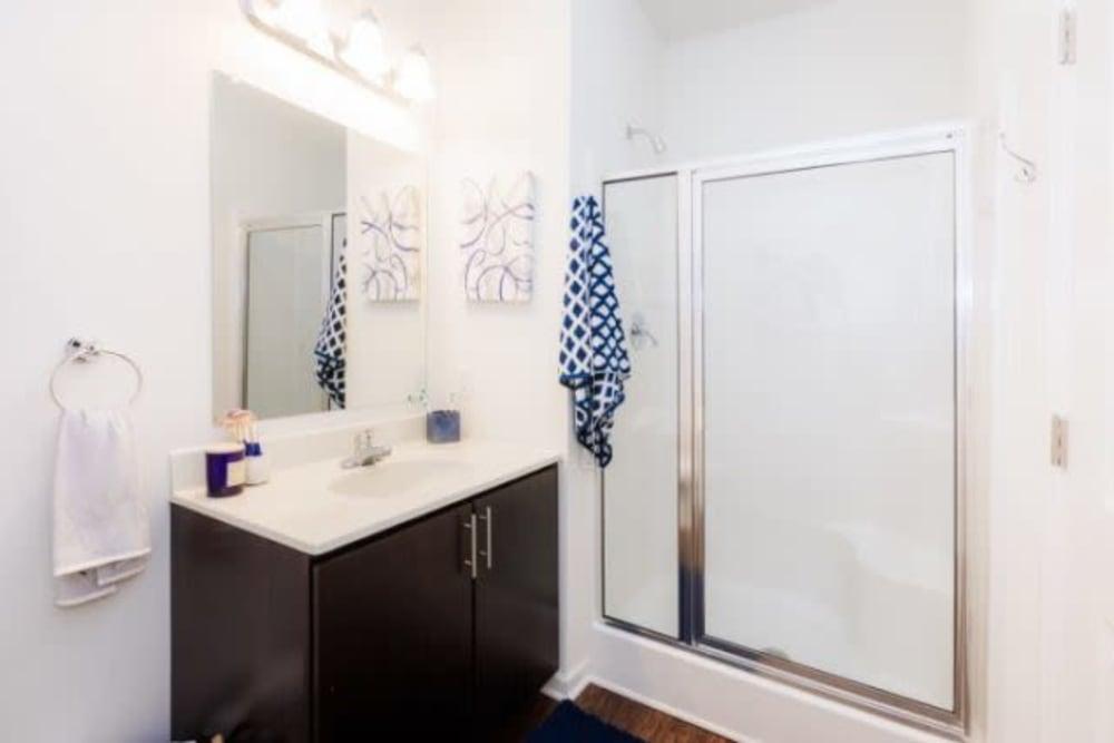 Spacious bathroom at Torrente Apartment Homes in Upper St Clair, Pennsylvania