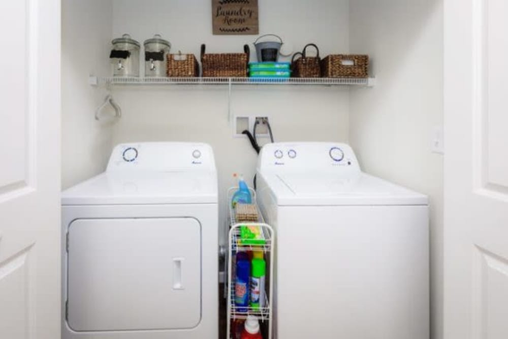 Washer and dryer at Torrente Apartment Homes in Upper St Clair, Pennsylvania