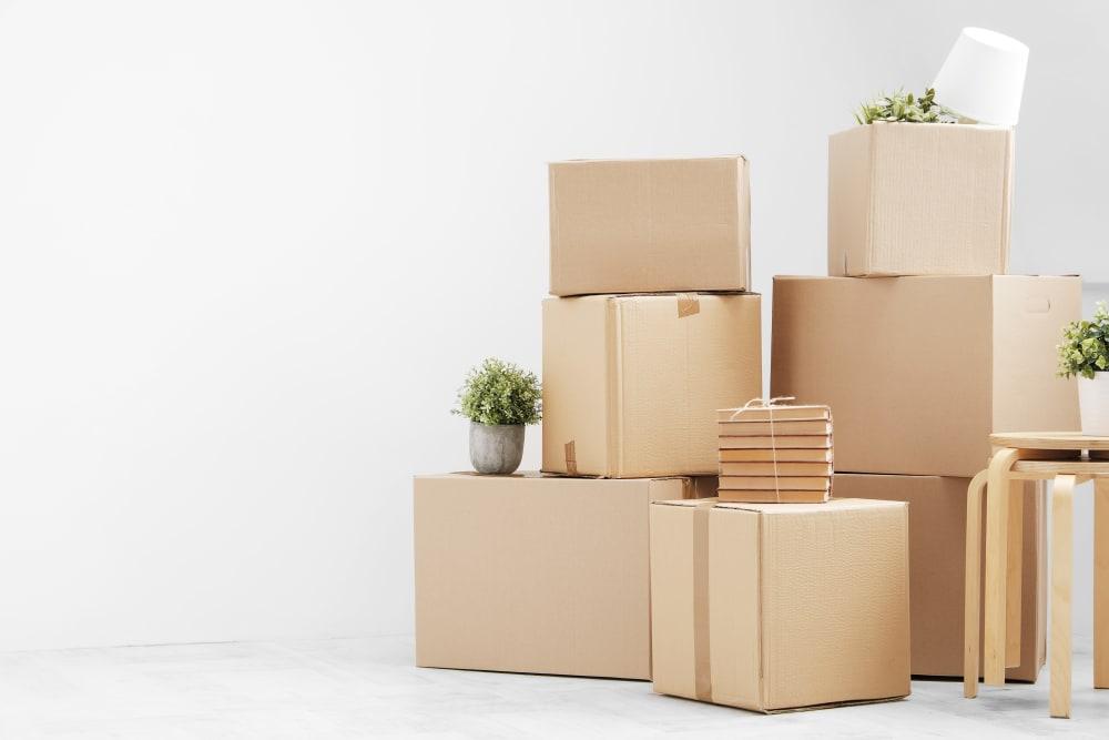 Boxes in Pompano Beach, Florida near Top Self Storage