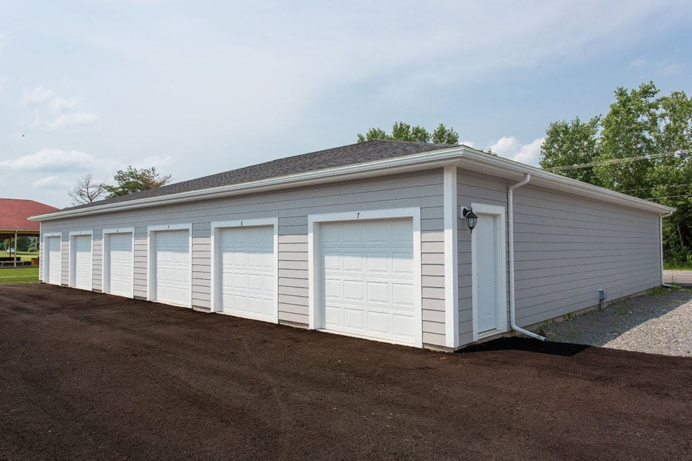 Garages available at Villa Capri Senior Apartments in Rochester, New York