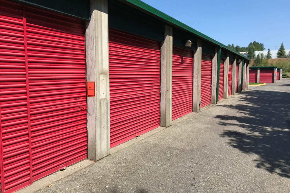 Storage units at Trojan Storage in Puyallup, Washington