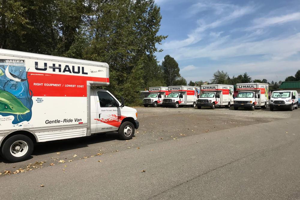 Truck rentals available at Trojan Storage in Puyallup, Washington