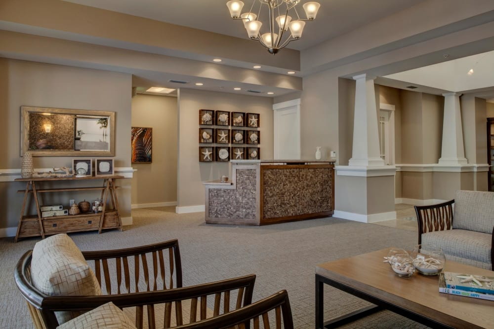 Lounge area at Ponte Vedra Gardens Alzheimer's Special Care Center in Ponte Vedra Beach, Florida