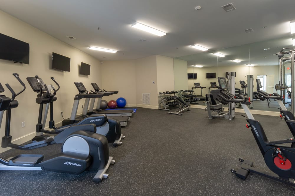 The Station at River Crossing in Macon, Georgia offers a modern fitness center