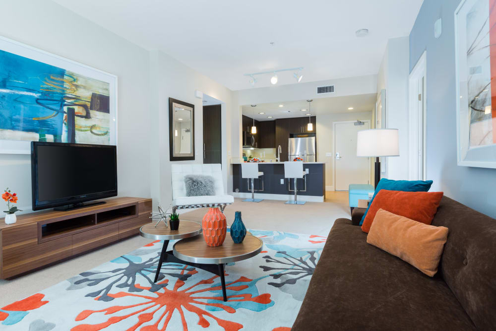 Open-concept floor plan at Sofi Riverview Park in San Jose, California