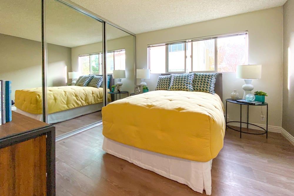 Bedroom at Spring Creek Apartments in Santa Clara, California