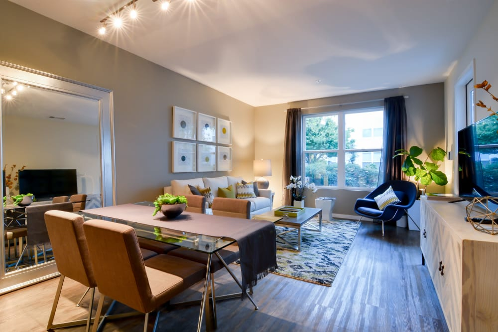 Open-concept floor plan at Domus on the Boulevard in Mountain View, California
