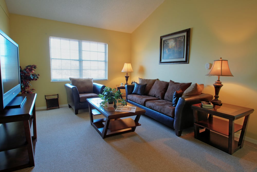A bright and open living room space at Bayside Terrace in Pinellas Park, Florida