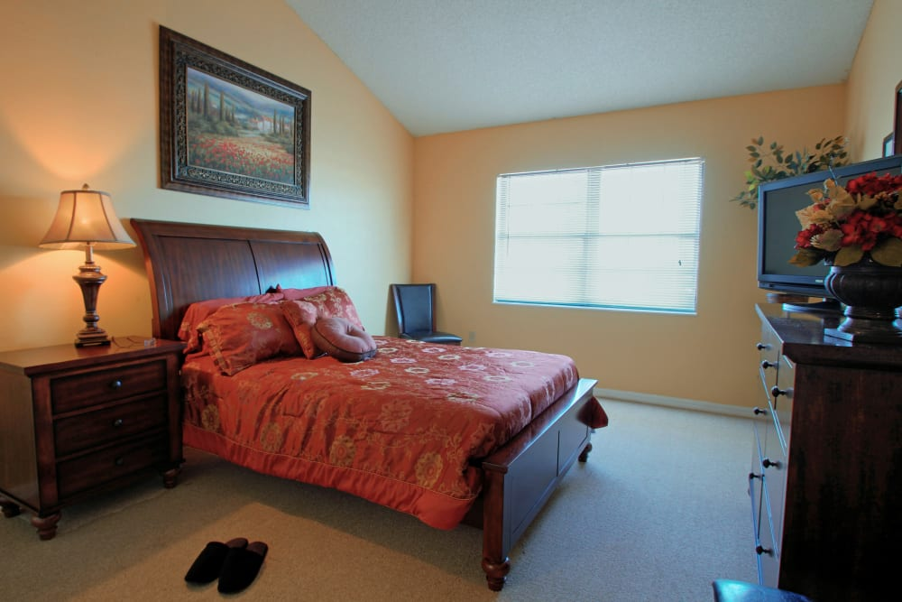 Enjoy spacious bedrooms at Bayside Terrace in Pinellas Park, Florida
