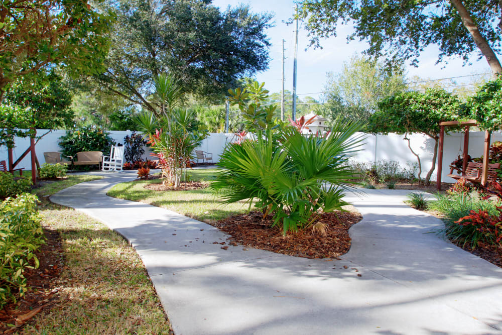 Enjoy numerous walking paths at Bayside Terrace in Pinellas Park, Florida