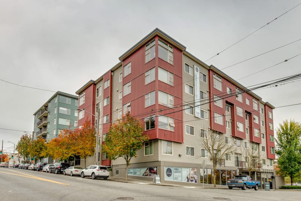Exterior view of our community at Verse Seattle in Seattle, Washington